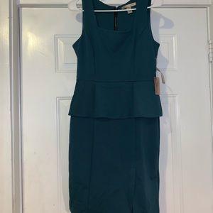 Forever 21 m medium professional dress teal NWT